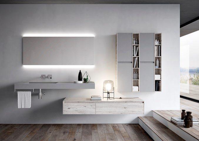 Bagno moderno rinnovato con ny by aqua ville casali for Bagno moderno 2016