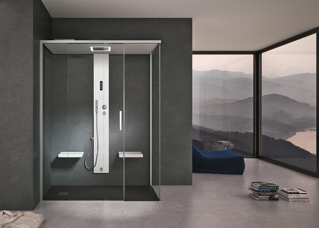 Bagni moderni per il benessere domestico ville casali - Porte per bagni ...