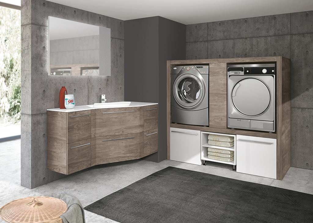 Bagni moderni per il benessere domestico ville casali - Ikea lavanderia mobili ...