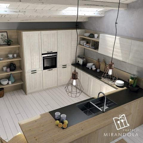 Cucine in legno design moderno tocchi classici ville casali - Cucine legno massello ...