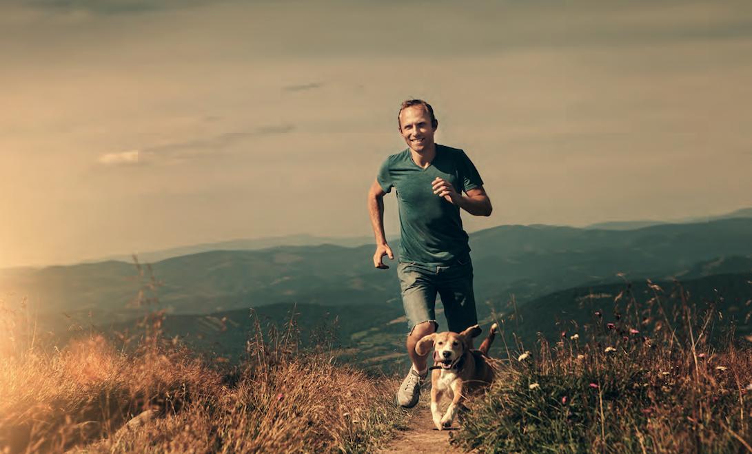 In montagna col cane