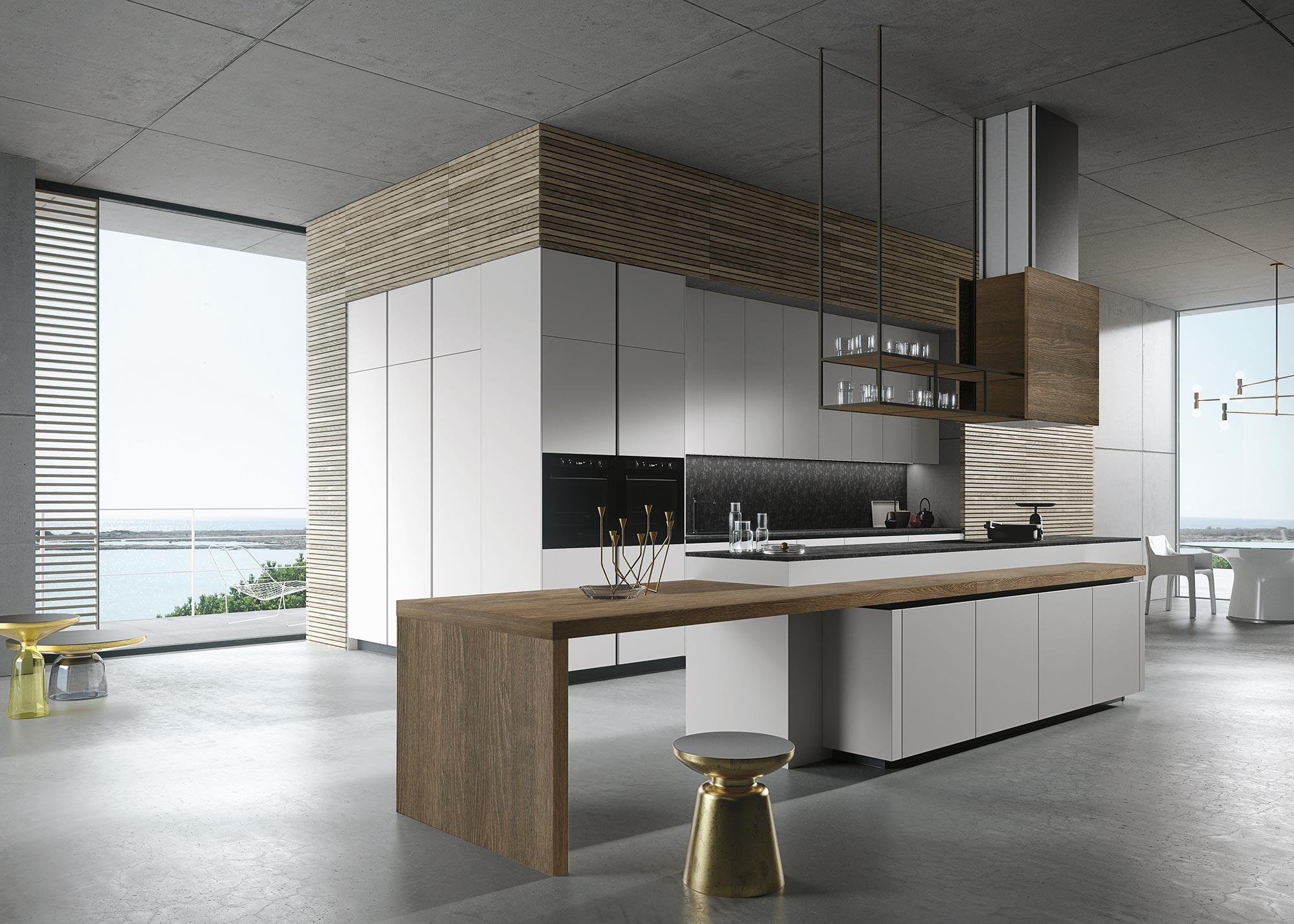 Cucine moderne eleganza sartoriale e contaminazione ville casali - Cucine snaidero moderne ...