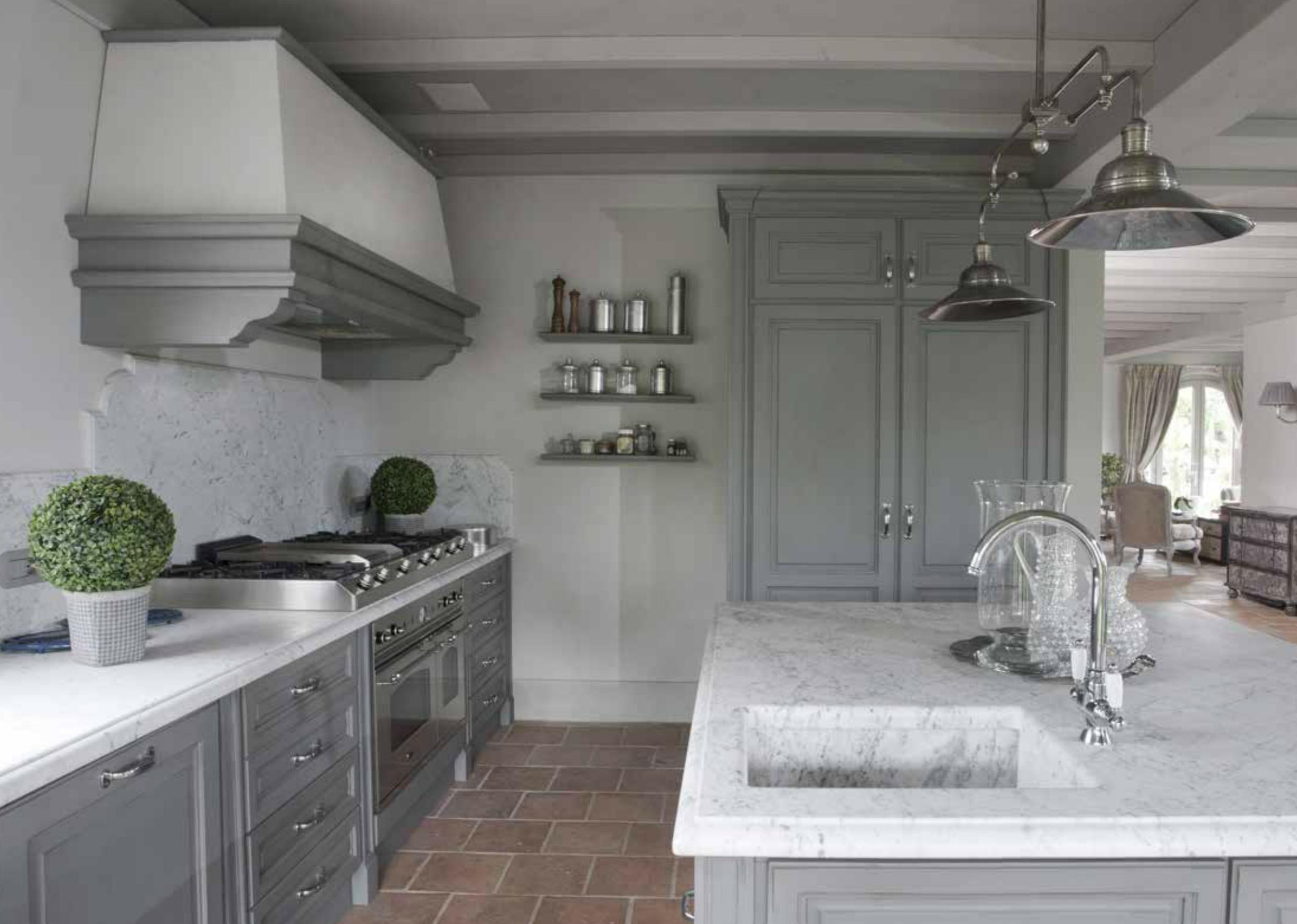 La cucina della villa: due diverse possibilità