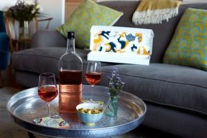 Bottiglia di vino piatta