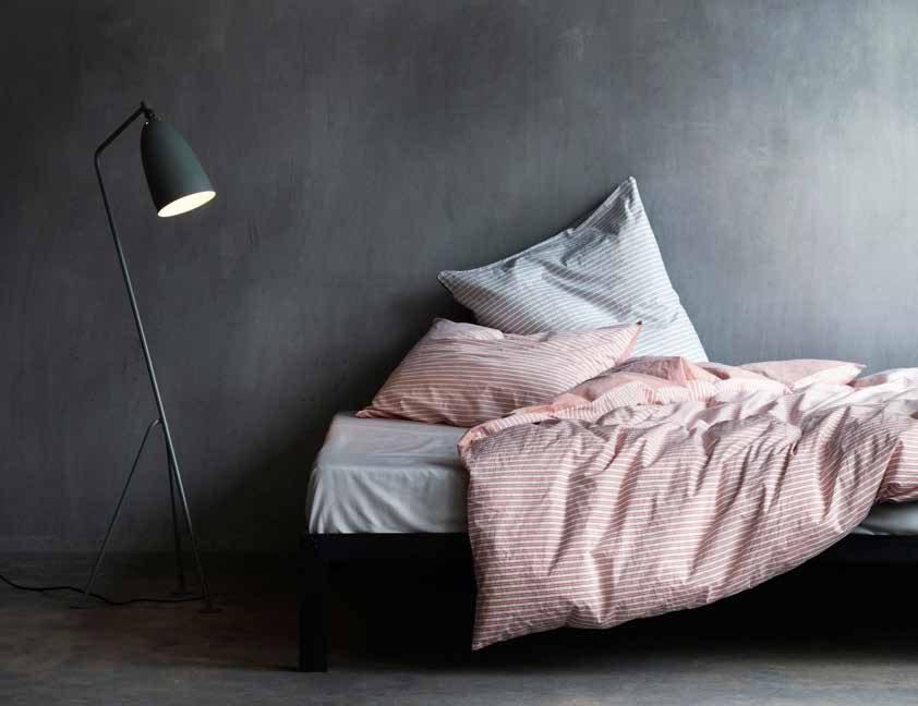 Biancheria per il letto a tinte morbide