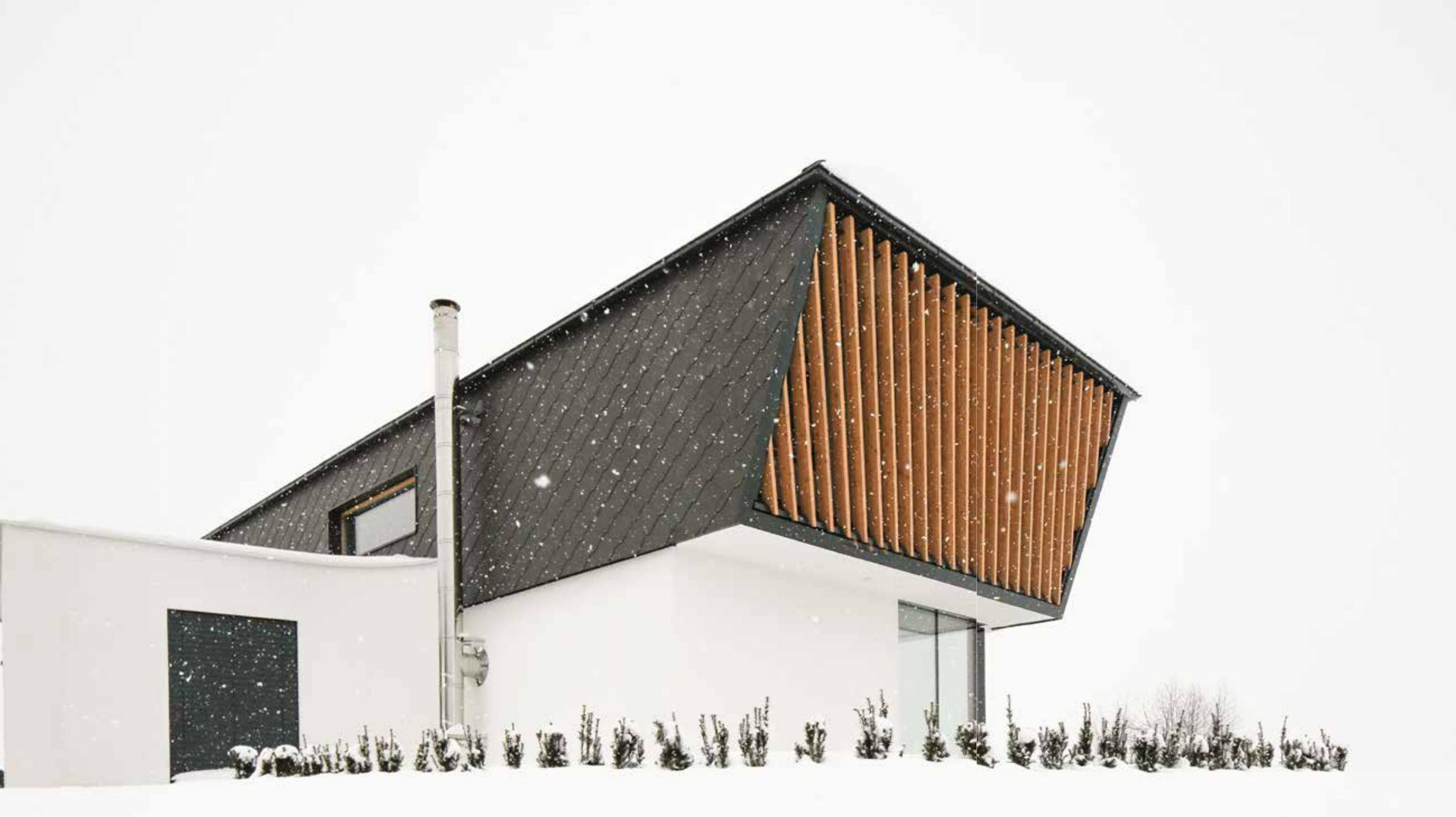 Una casa moderna e raffinata in slovenia for Tetto della casa moderna
