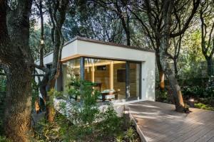 casa nei boschi