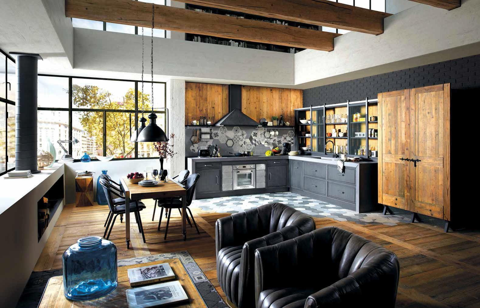 Nuove cucine: living e fornelli in un spazio   Ville&Casali