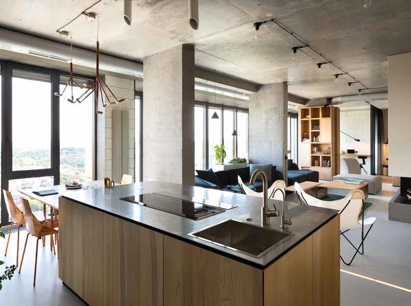 Cucine In Legno Naturale : Cucina in legno naturale e cemento a vista ville&casali