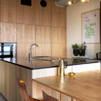 cucina legno cemento