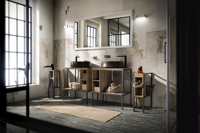 Arredamento bagno stile urban play di cerasa ville casali for Arredo bagno piacenza e provincia