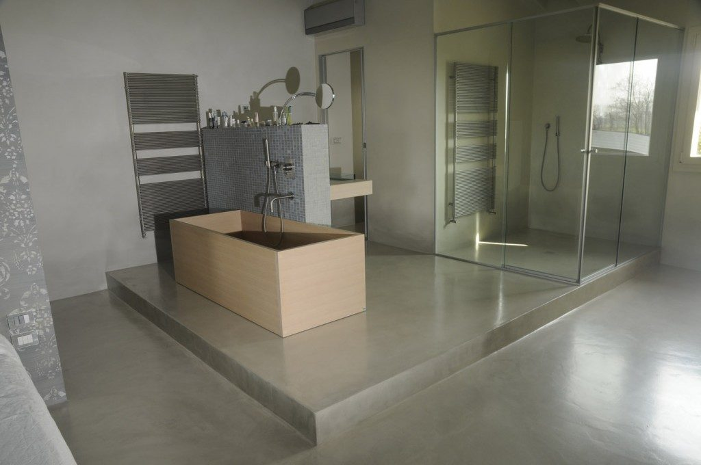 resina cemento bagno
