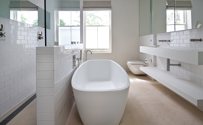 Elegant tra i materiali pi utilizzati in periodo per il e luarredo del bagno cu la resina - Resina bagno prezzo ...