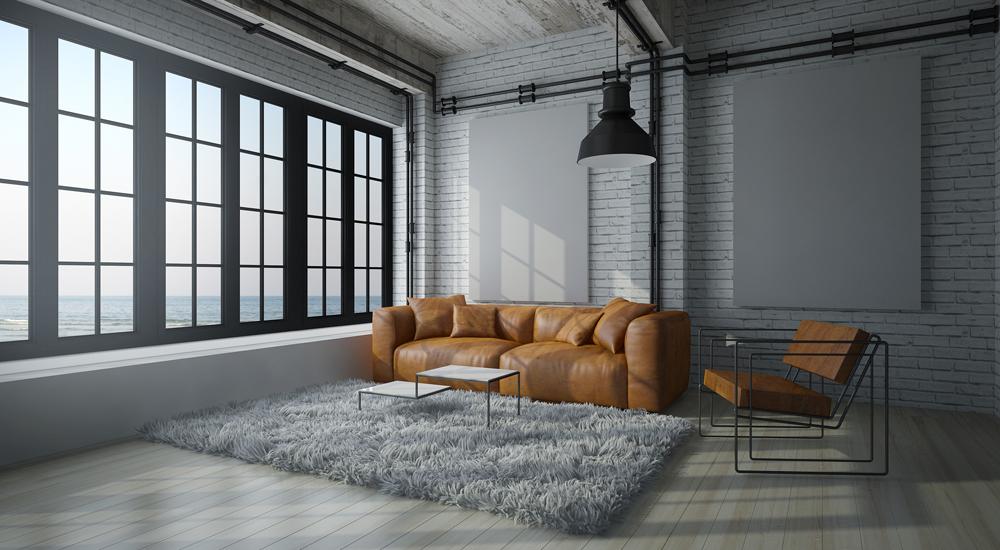 Arredare il soggiorno in stile industriale ville casali for Tapetentrends 2017 wohnzimmer