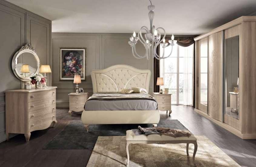Arredare con il new classic lo stile ideale in camera da for Colore pareti camera da letto mobili bianchi