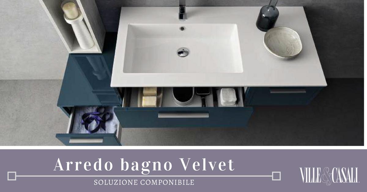 Velvet nuova collezione componibile per l arredo bagno ville casali for Arredo bagno componibile