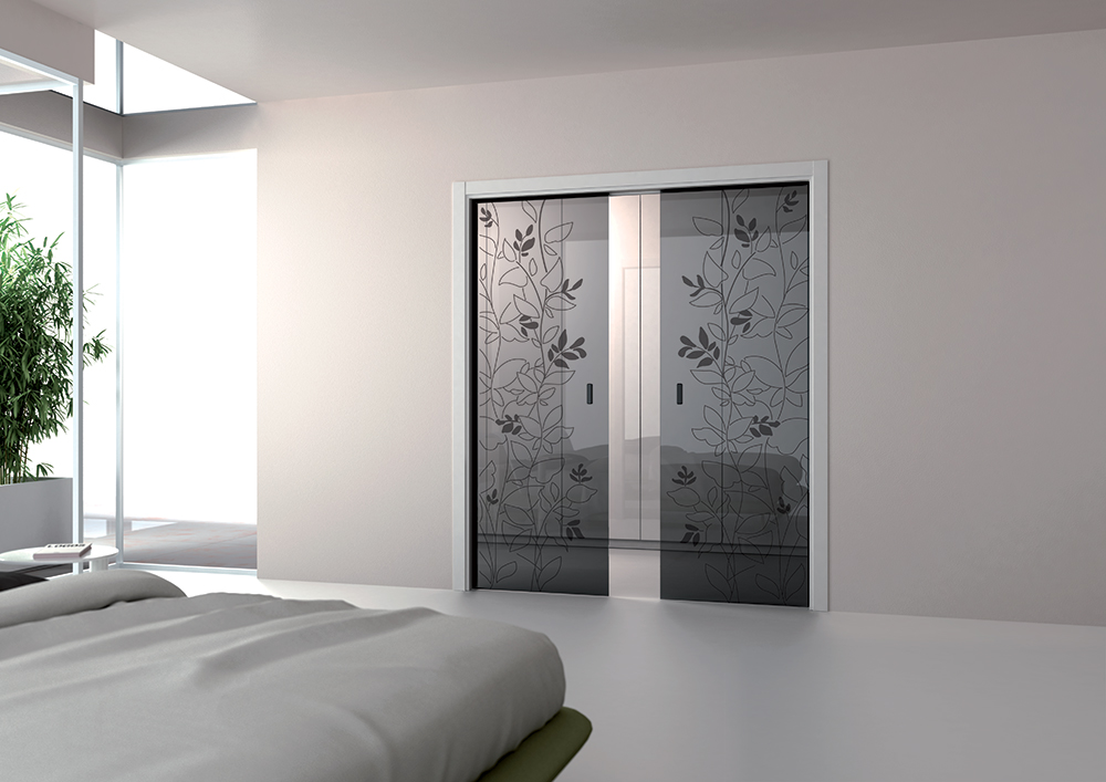 Scegliere una porta a scomparsa in vetro ville casali - Porta scrigno dimensioni ...