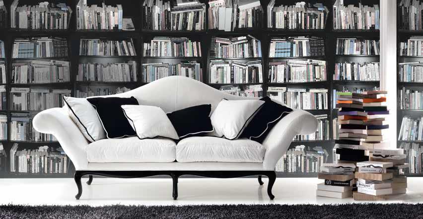 divano bianco e nero