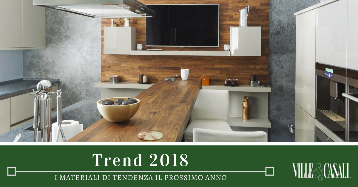 Arredamento 2018 i materiali di tendenza ville casali - Arredamento ville e casali ...