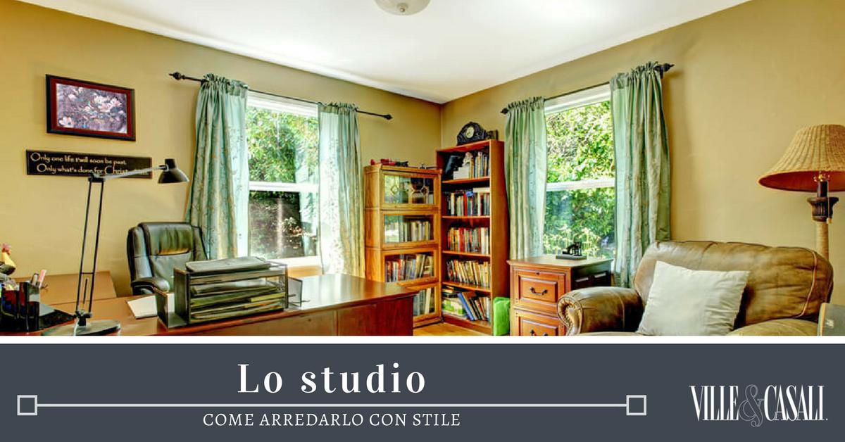 Come arredare con stile la stanza studio ville casali for Arredare stanza studio