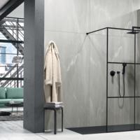 Libero 3000 e 4000 di duka: parete doccia senza sostegni o in stile industriale