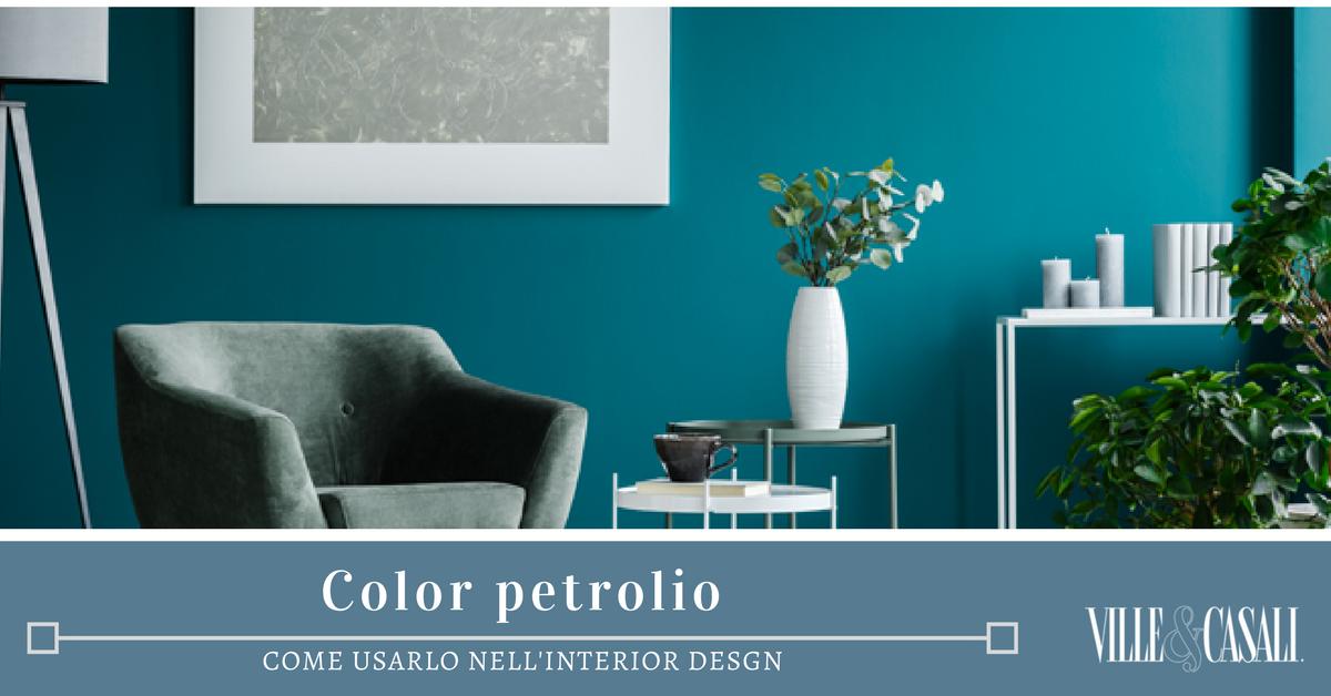 Salotto Verde Petrolio : Come arredare la casa con il color petrolio ville&casali