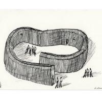 """Arte Sella: """"Dentro Fuori"""", schizzo preparatorio di Michele De Lucchi"""