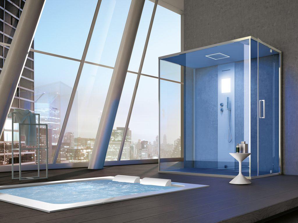 La spa in casa sauna idromassaggio e bagno turco per il