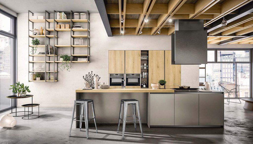 La cucina industrial dove condividere è Arredo3