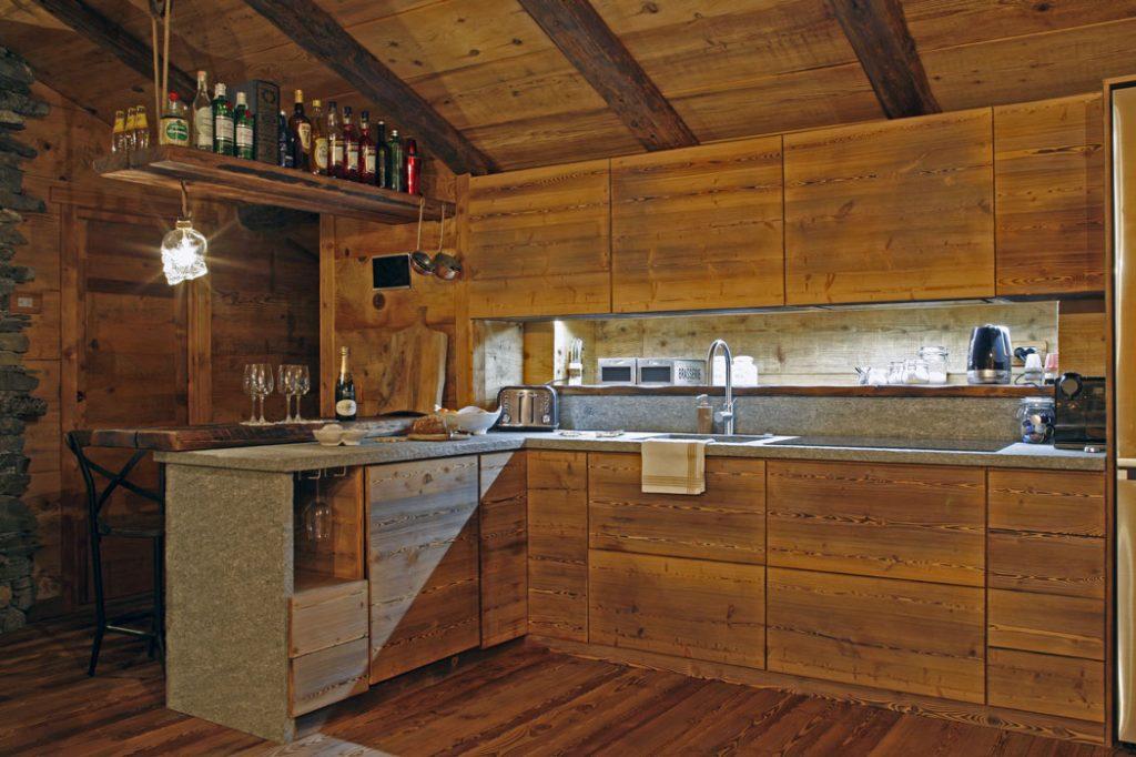 baita sul monte bianco, cucina