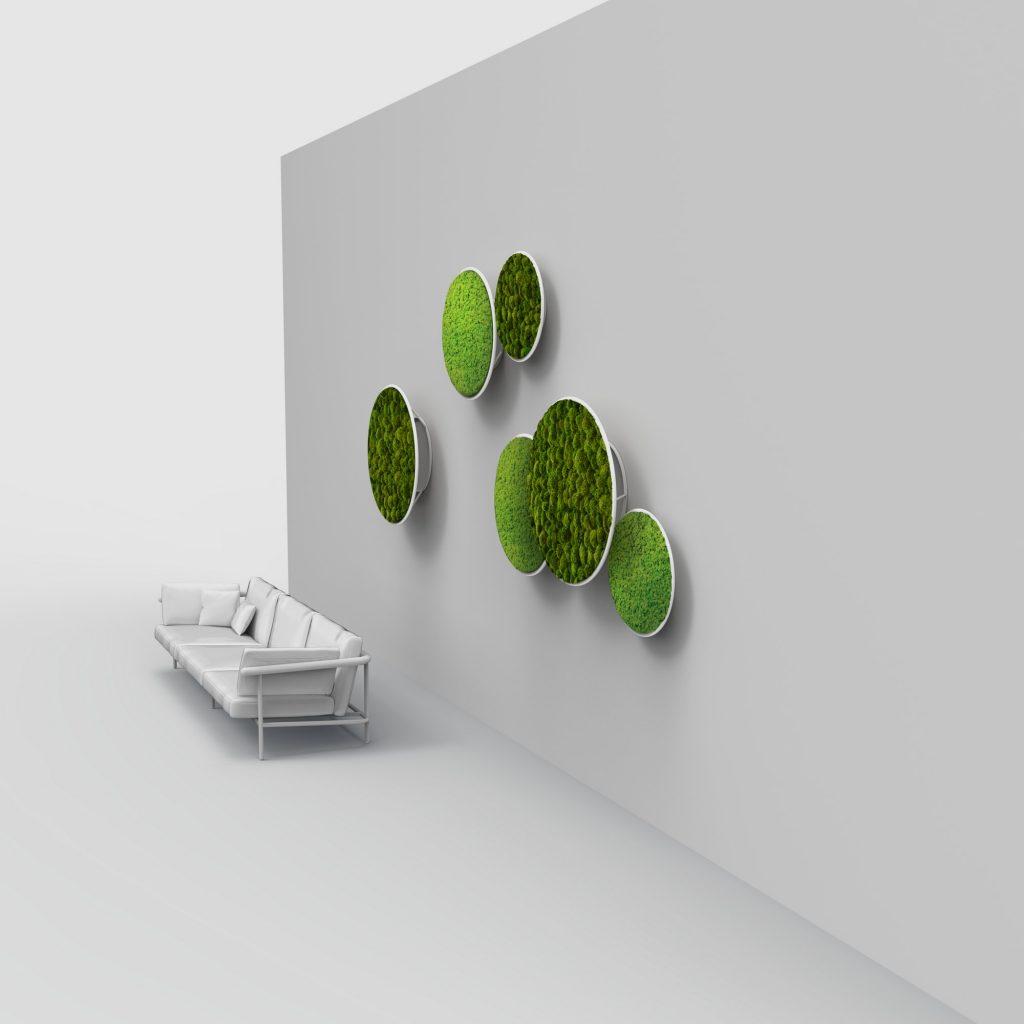 Le pareti verdi stabilizzate sono adatte alle aree poco illuminate