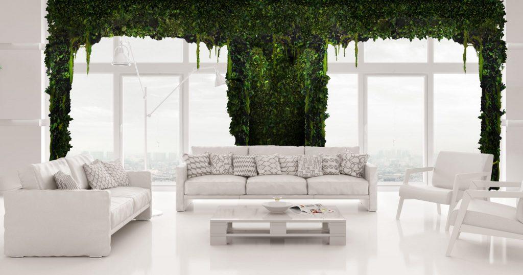 Le pareti verdi stabilizzate possono essere arricchite da piante diverse