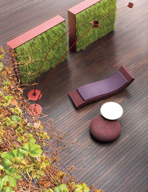 Le pareti verdi possono essere costituite da vasi amovibili e da piante intercambiabili