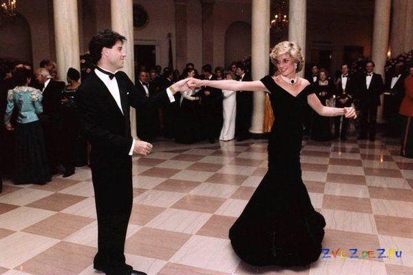 Джон Траволта танцует с принцессой Дианой
