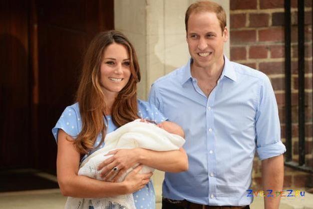 Герцогиня Кэтрин, принц Уилльям и сын Георг