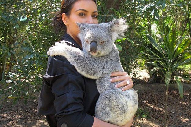 Ким Кардашьян с коалой