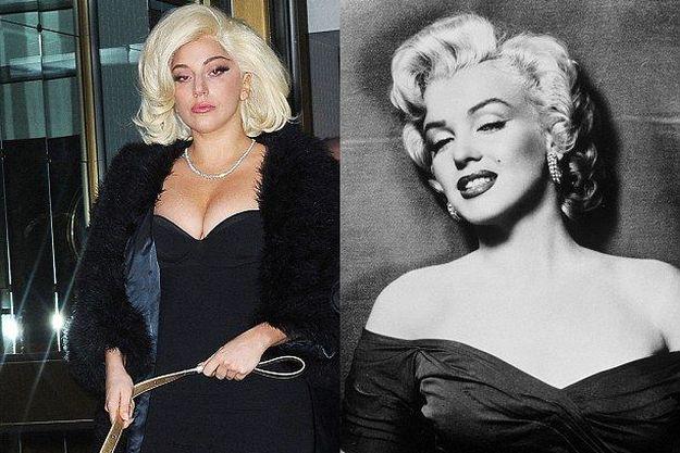 Леди Гага и Мэрилин Монро