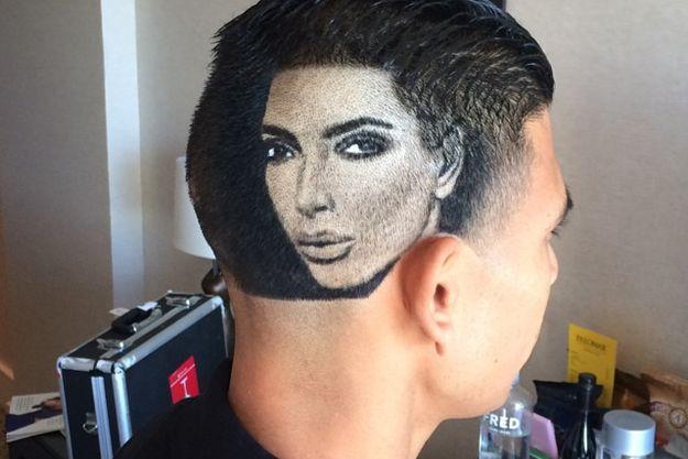 Фанат выстриг на голове портрет Ким Кардашьян