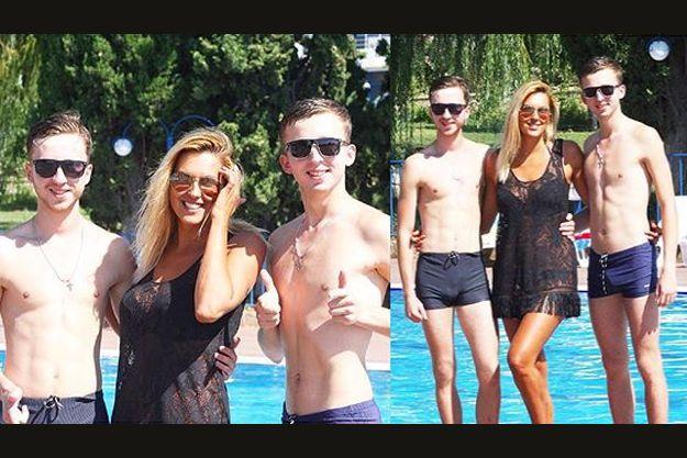 Яна Клочкова зажигает в Крыму с полуголыми парнями