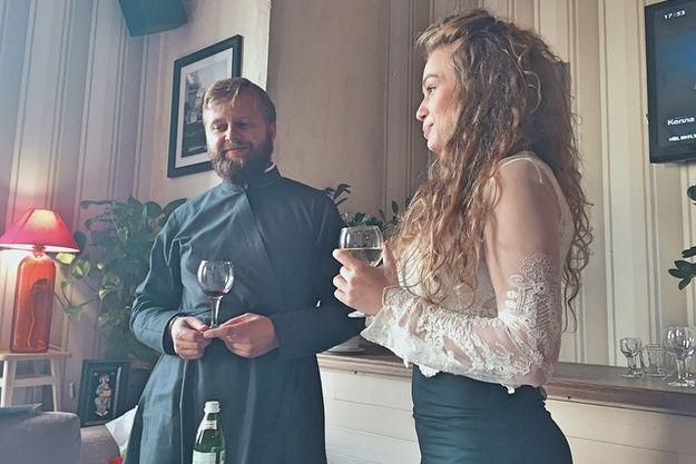 Яна Соломко крестила новорожденную дочку