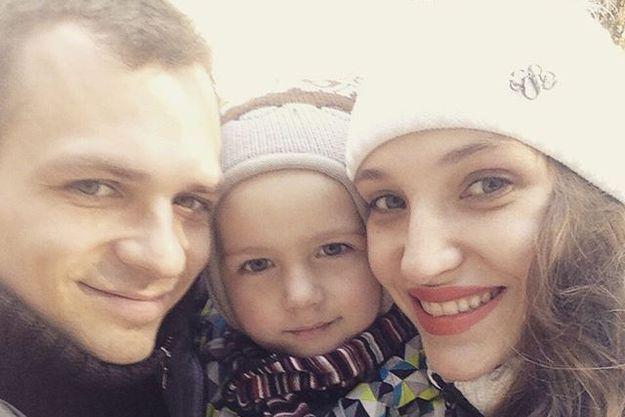 Алексей Янин с семьей