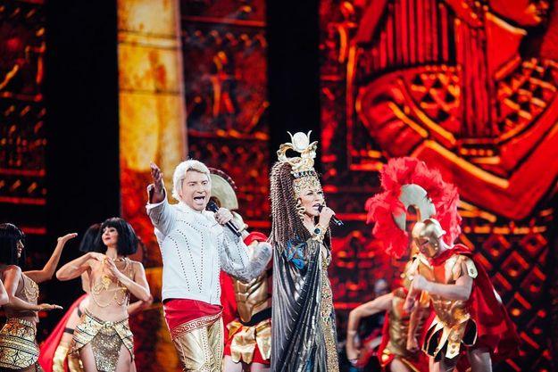 Таисия Повалий в образе Клеопатры вышла на сцену Кремля