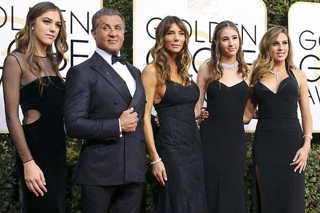 Дочери Сильвестра Сталлоне открыли красную дорожку «Золотого глобуса 2017»