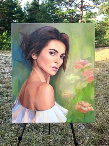 Любовь Никитина подарила Сати Казановой портрет стоимостью 1 млн рублей