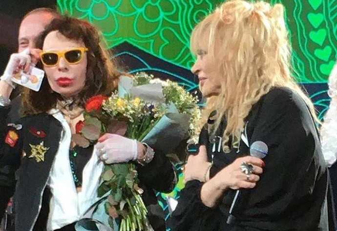 Пугачева и Агузарова спели дуэтом на юбилее рок-группы Стаса Намина «Цветы»