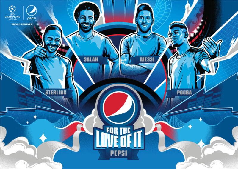 Месси, Салах, Погба и Стерлинг стали героями рекламного ролика Pepsi®