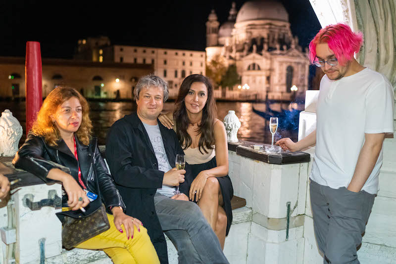 Венецианский ужин Екатерины Мцитуридзе и её друзей в отеле Bauer Palazzo